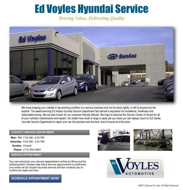 Ed Voyles Hyundai Service